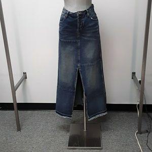 Free People  maxi denim skirt